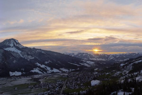 Hindelang Sonnenuntergang