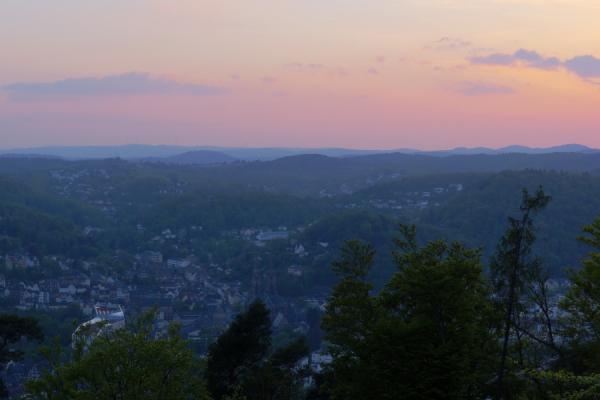 Sonnenuntergang Marburg