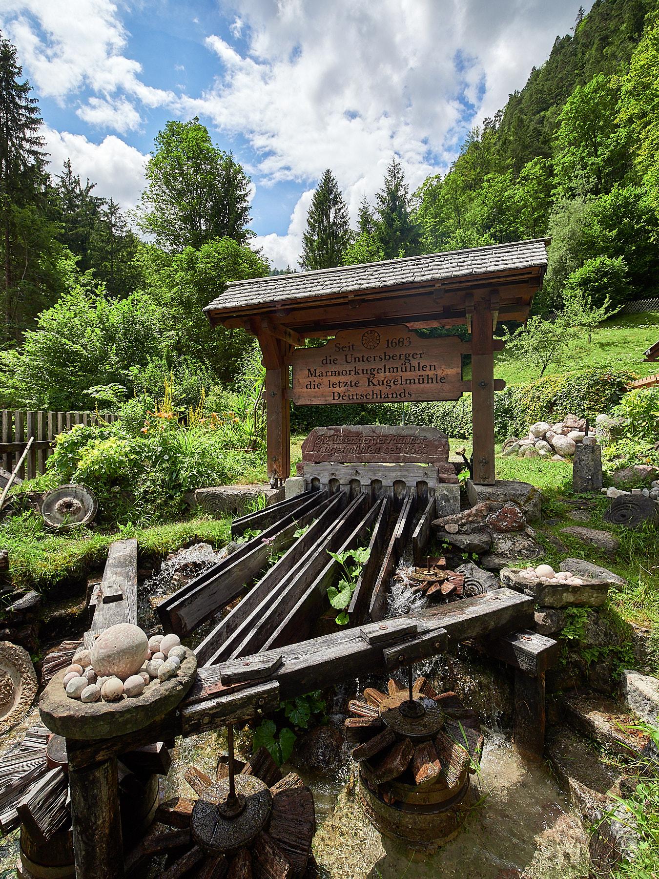 Bild der Kugelmühle der Almbachtalklamm